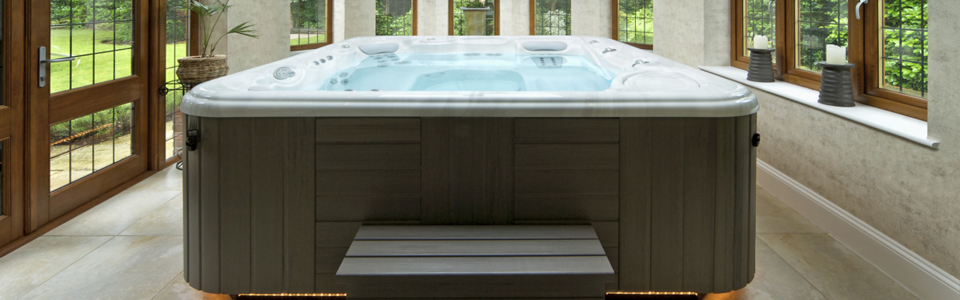 Large hot tub